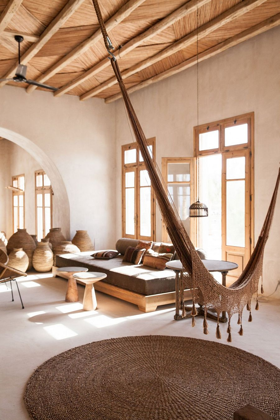 Hammock for the tranquil stone house
