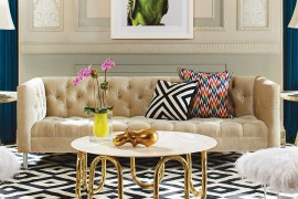 Hard to miss the Mid Century Modern vibe of the Scalinatella Cocktail Table  50 Fabulous Coffee Tables that Usher in a Golden Glint Hard to miss the Mid Century Modern vibe of the Scalinatella Cocktail Table 270x180
