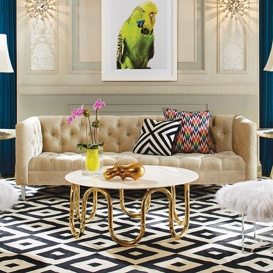 Hard to miss the Mid Century Modern vibe of the Scalinatella Cocktail Table  50 Fabulous Coffee Tables that Usher in a Golden Glint Hard to miss the Mid Century Modern vibe of the Scalinatella Cocktail Table