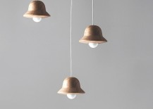 Hat Lamp in natural oak by Norm Architects