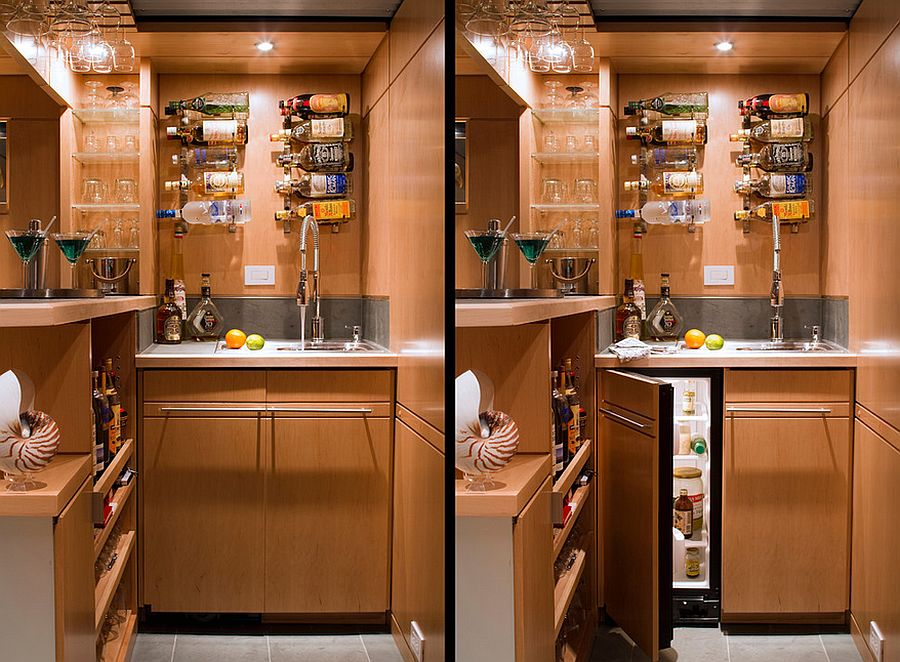 ... Home Bar For The Basement Is All About Smart, Space Saving Solutions [ Design