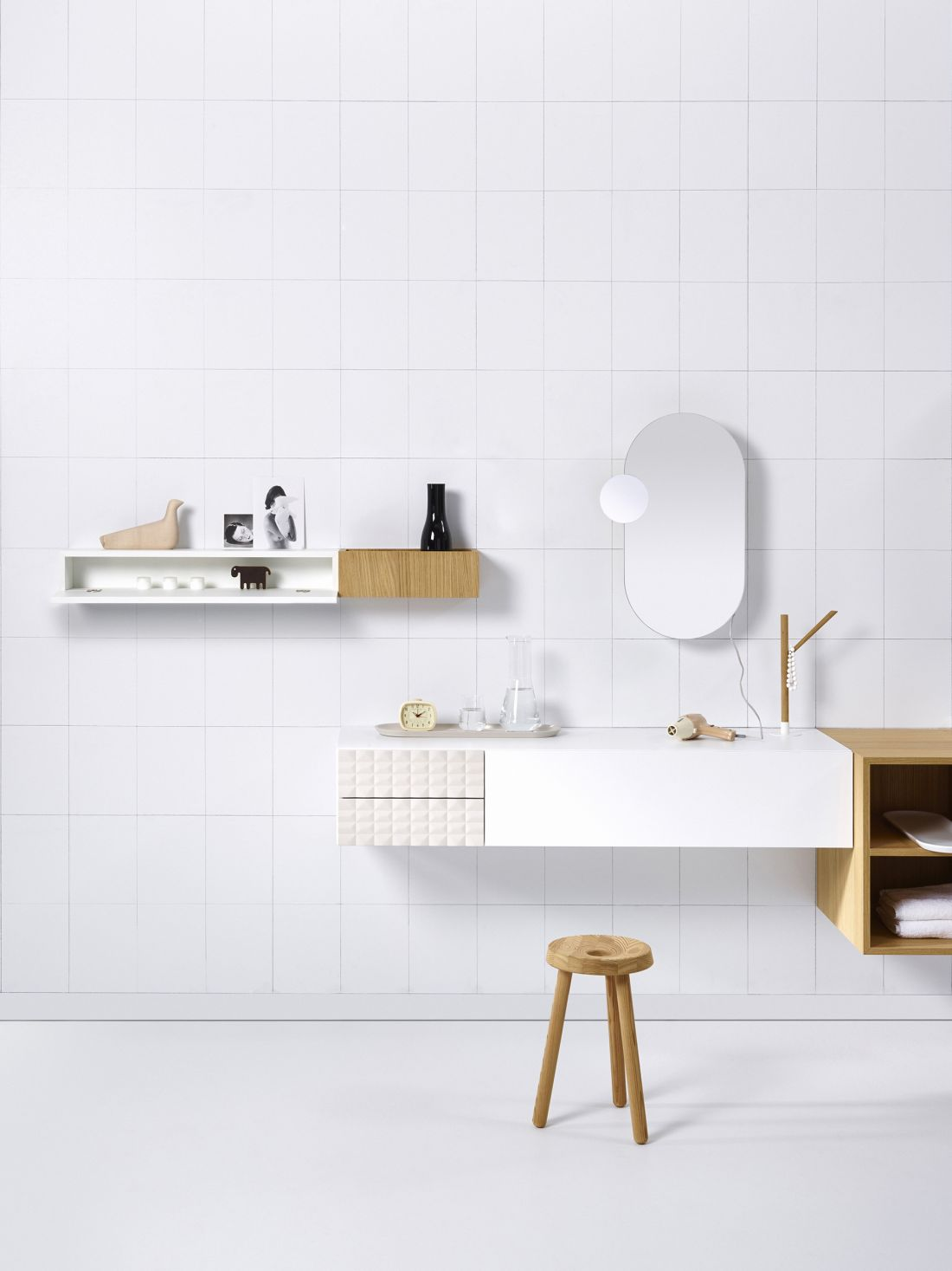 Ingrid Modular Bathroom Range white backdrop