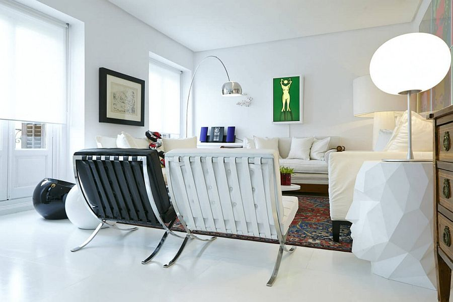 Interesting lighting installations for the elegant living room