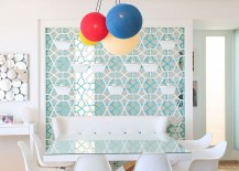 Intricate patterns of Moroccan design coupled with contemporary style inside Skhirat home