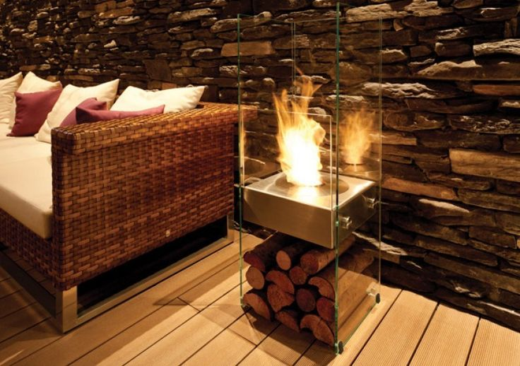 Invisible glass fireplace from Ecosmart Fire