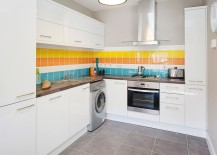 Kitchen backsplash that is all about cheerful elegance