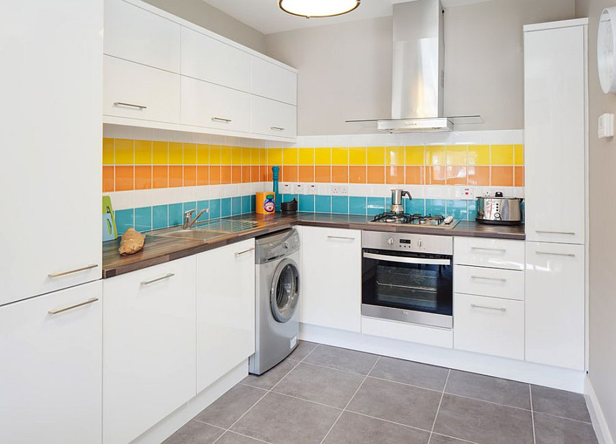 ... Kitchen Backsplash That Is All About Cheerful Elegance [Design: Think  Contemporary]