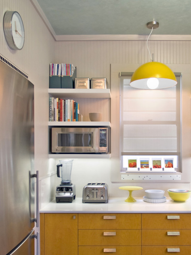 15 unique kitchen ideas for storing cookbooks Floating shelf ideas for kitchen