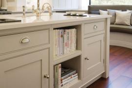 Kitchen island cookbook shelf  15 Unique Kitchen Ideas for Storing Cookbooks Kitchen island cookbook shelf 270x180