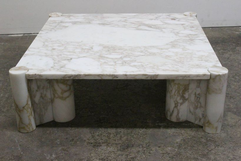 Knoll marble coffee table from 1stdibs