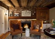 LED strip lighting enhances the glow of the fireplace [Design: Terrat Elms Interior Design]