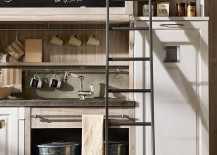 Ladder allows you to utilize your kitchen space to the hilt