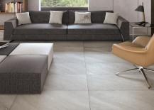 Large floor tile in a modern living room
