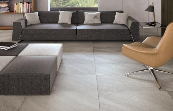 Glazed Porcelain Floor Tile With The Look Of Concrete