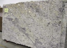 Large slab of white ice granite