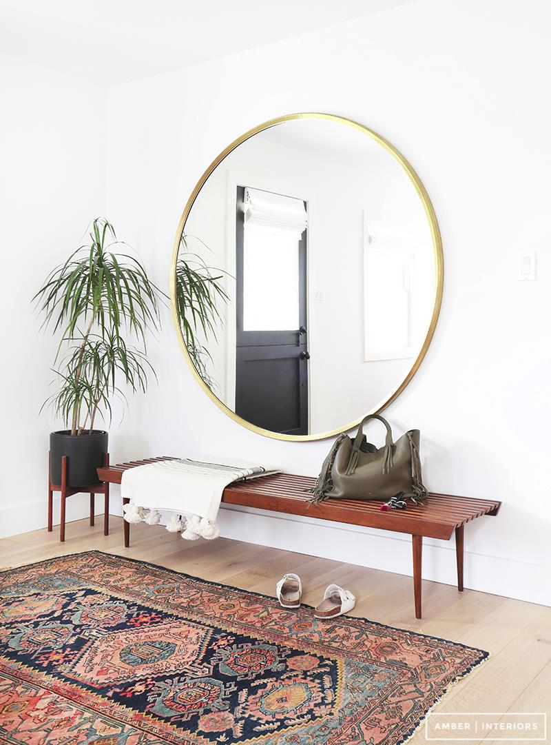 Large Round Foyer Mirror : Entryway furniture ideas that maximize style