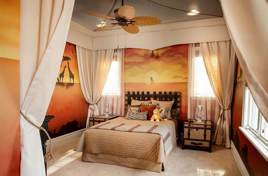 disney bedroom designs.  Lion King bedroom design captures the enchanting spirit of Africa From FrazierFoto 25 Disney Inspired Rooms That Celebrate Color and Creativity