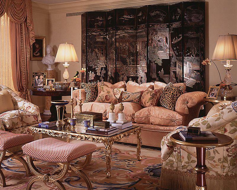 Living room clad in 18th century French panache! [Design: William R. Eubanks Interior Design]