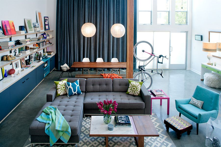 View In Gallery Loft Style Living Room Accentuates The Vertical Space On  Offer Delightfully 50 Eclectic Living Rooms For
