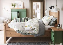 Lovely IKEA nightstand and linen cabinet in pastel green