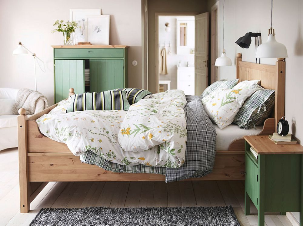 View In Gallery Lovely Ikea Nightstand And Linen Cabinet In Pastel Green
