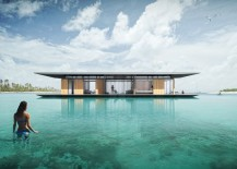 Luxurious floating house with a transportable base