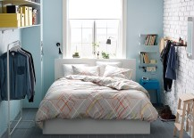 MALM Storage Bed gives you design flexibility in the small bedroom