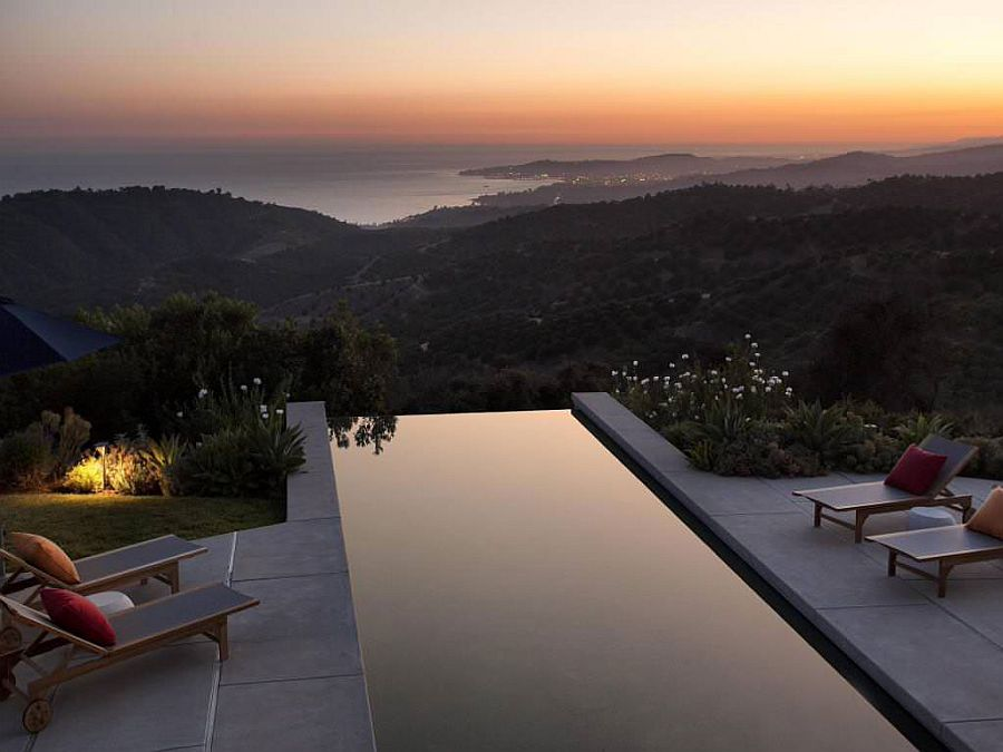 Majestic view of the distant Santa Barbara coastline from the fabulous home