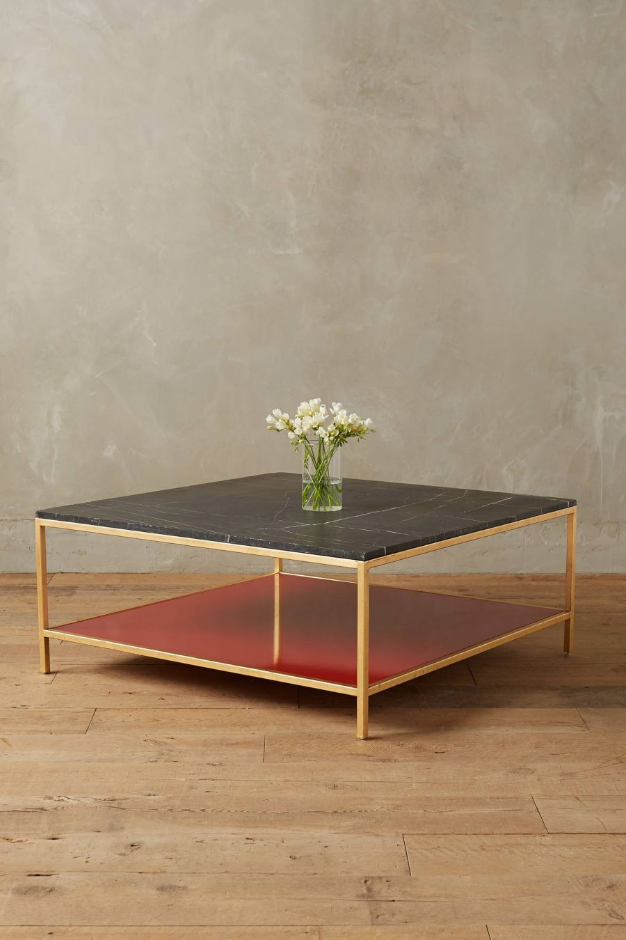 Marble coffee table from Anthropologie