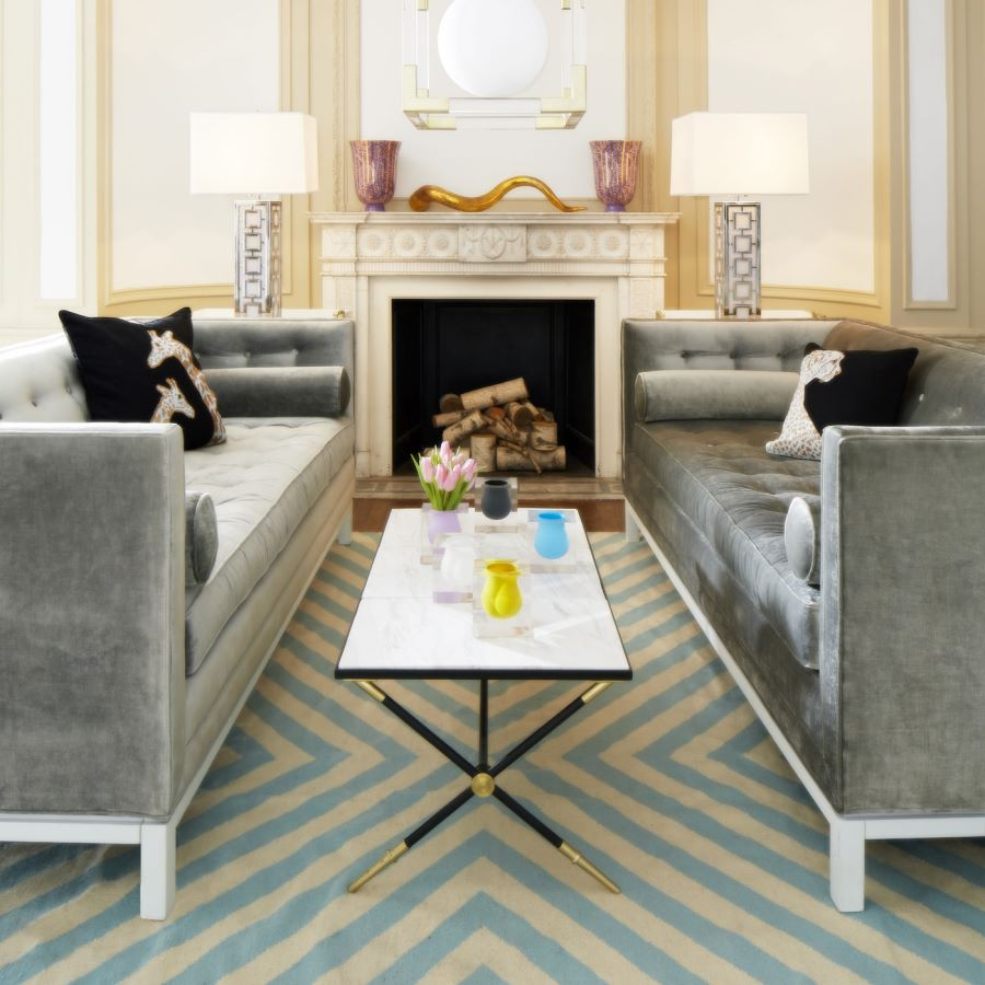 Marble coffee table from Jonathan Adler