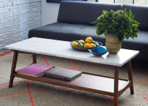 Marble rectangular coffee table from West Elm
