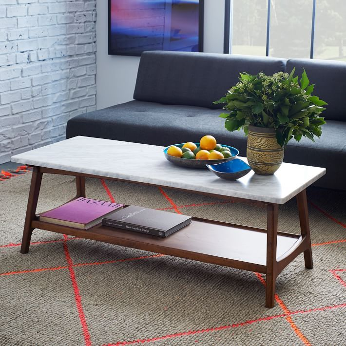 Cb2 Mid Century Coffee Table: Stone Coffee Tables With Modern Style