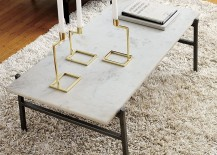 Marble slab coffee table from CB2