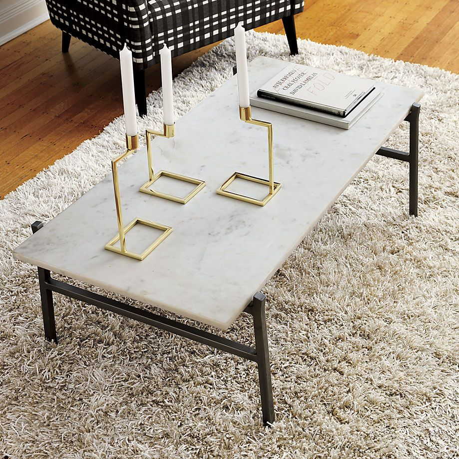 White Marble Coffee Table Set: Stone Coffee Tables With Modern Style
