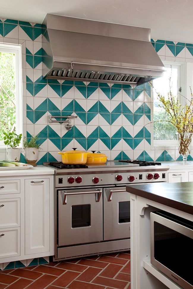 White Kitchen Yellow Backsplash hot trend: 20 tasteful ways to add stripes to your kitchen