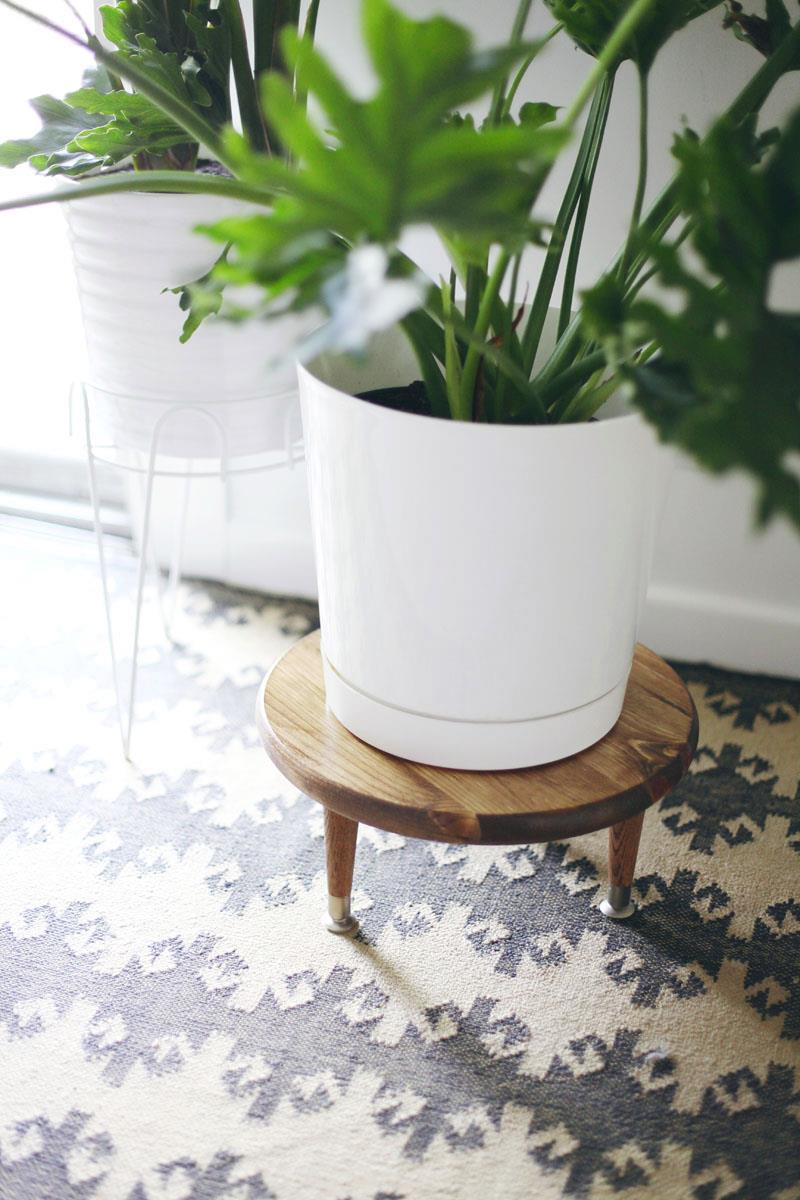 Midcentury-style plant stand from A Beautiful Mess