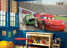 Modern-bedroom-with-Disney-Cars-themed-decor-and-wall-decal-217x155