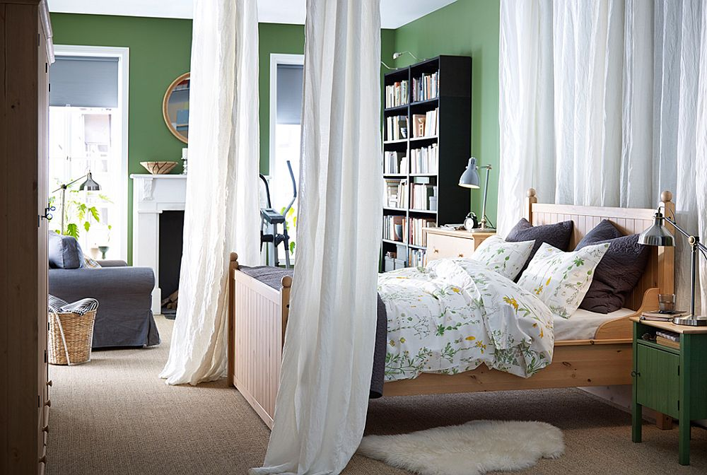 Modern couple's bedroom that brings together the individual choices of both him and her
