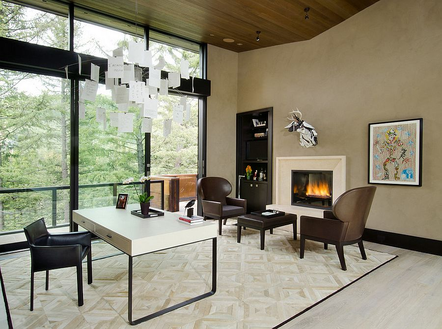 cozy contemporary home office. modern home office with unique pendant light and ample natural ventilation design vag inc cozy contemporary