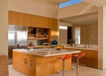 Modern kitchen with a stylish island and an extended breakfast counter