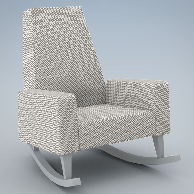 Modern patterned rocker