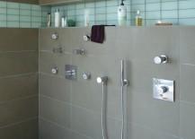 Modern porcelain tile shower