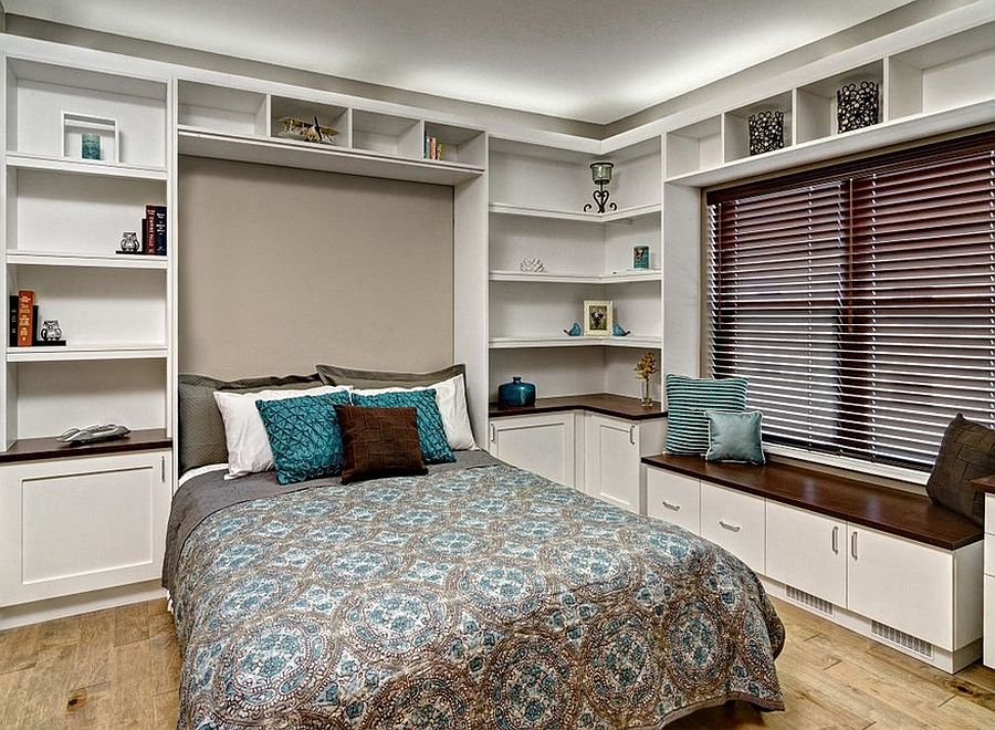 ... Murphy Bed Is An Easy Add On For The Home Office Guestroom [Design: