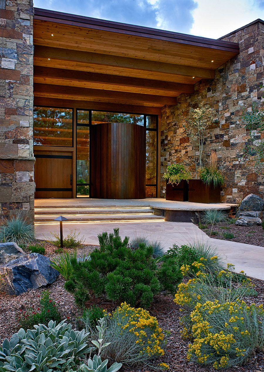 Natural stone and timber shape the lovely Evergreen Retreat