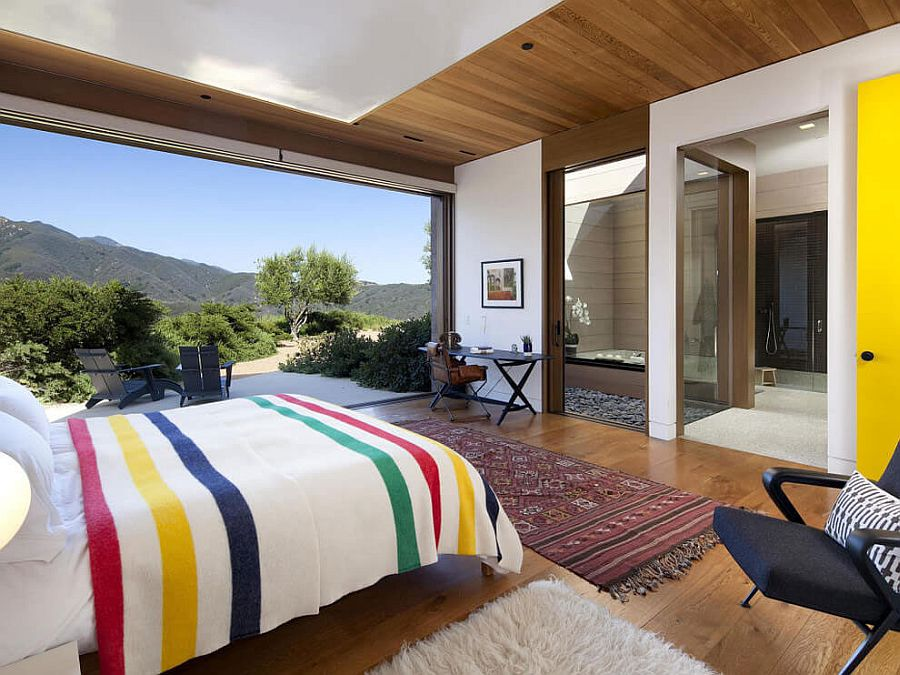 Nature and Toro Canyon become an integral part of this luxurious bedroom!