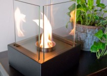 Nu flame Lampada tabletop fireplace 217x155 12 Cozy & Portable Fireplace Ideas for the Modern Home