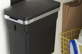 8 ways to hide or dress up an ugly kitchen trash can. Black Bedroom Furniture Sets. Home Design Ideas