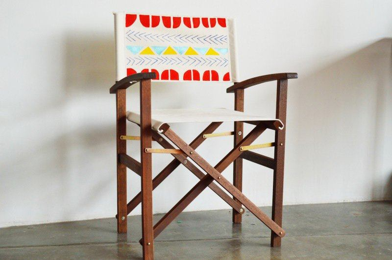 Painted canvas chair from Mr. Kate