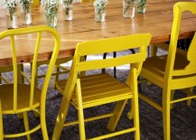Painted dining room chairs from A Beautiful Mess