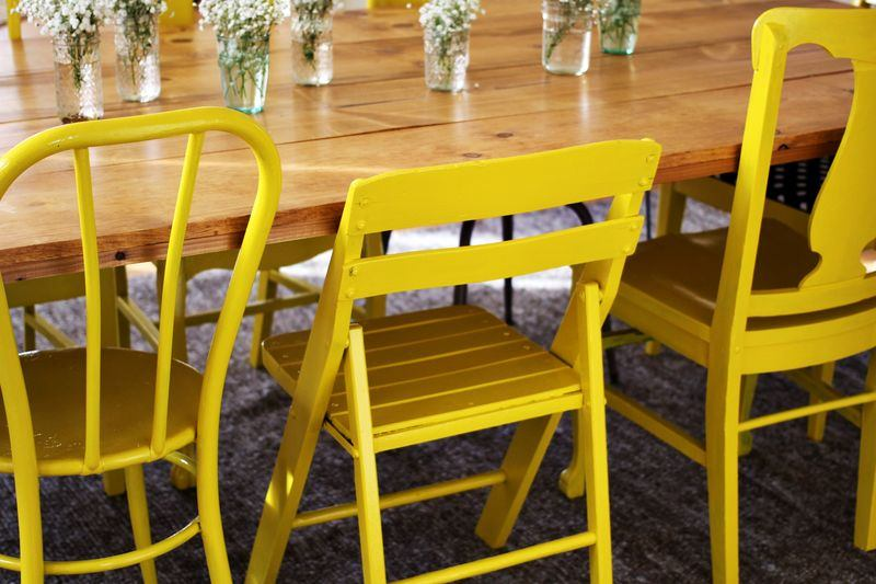 View In Gallery Painted Dining Room Chairs From A Beautiful Mess